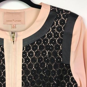 Gibson Latimer Lace Overlay Blush Jacket